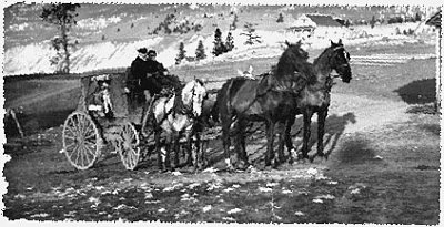 a photograph of a stagecoach in the Okanagan